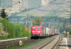 Railion 151 141 approaches Himmelstadt with a southbound freight on 20th April 2011.
