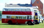 Portsmouth 115 (Leyland ORV 992). Netley Bus Rally, 8th June 2008.