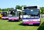 First buses: 42116 (R616 YCR), 40262 (N630 CDB), 46324 (N324 ECR). Netley Bus Rally, 8th June 2008.
