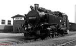 DR 2-10-2T 99 1771 runs round its train at Cranzahl on 13th April 1991.