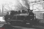 2-8-0T 99 4802 runs round its train at Göhren, in readiness for the return run to Putbus. 10th April 1991.