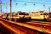 BB 9321 & BB 8634 are the prominent locos in the depot yard at Toulouse on 6th March 1989.