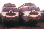 Another unidentified pair of withdrawn 65000 class diesels are seen at Nantes depot, where 19 of the 20 strong class were to be found dumped on 27th December 1988. The only one of the class not present was 65010.