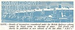 'Motive Power Miscellany' column header from Trains Illustrated No.10 from July 1948.